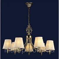 Классическая люстра светильник бронзового цвета с абажуром 7 ламп Levistella 755MK30020-7 AB