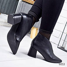 """Ботильоны женские демисезонные, черного цвета из эко кожи """"9053"""". Черевики жіночі. Ботинки деми, фото 2"""