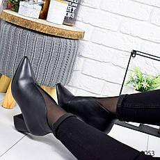 """Ботильоны женские демисезонные, черного цвета из эко кожи """"9053"""". Черевики жіночі. Ботинки деми, фото 3"""