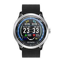 Умные часы Blaze Watch N58 с тонометром и ЭКГ (Черный)