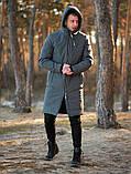 Мужская зимняя длинная парка Asos (Gray), серая длинная зимняя парка, фото 7