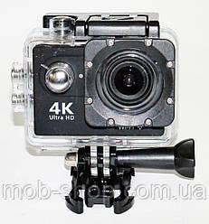 Подводная Экшн камера Action Camera B5 WiFi 4K с хорошим качеством съемки большой комплект креплений