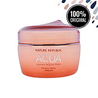 Интенсивный увлажняющий крем для сухой кожи лица NATURE REPUBLIC Super Aqua Moisture Watery Cream, 80 мл