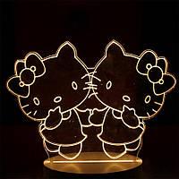 🔝 3D светильник, ночник для детей, Hello Kitty, (доставка по Украине)   🎁%🚚, фото 1