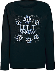 Женский свитшот Game Of Thrones - Let It Snow (чёрный)