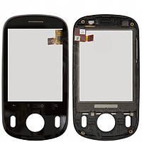 Touchscreen (сенсорный экран) для Huawei C8500, с передней панелью, оригинал (черный)