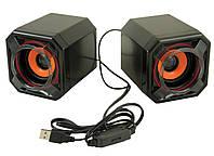 Компьютерные колонки акустика 2.0 UKC USB A8