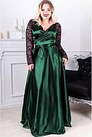 """Женское платья с кружевом большого размера """"Багира"""" Батал"""
