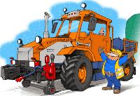 Трактор на комбиходе ST-2P на базе колесного погрузчика ХТЗ (трактор-погрузчик)