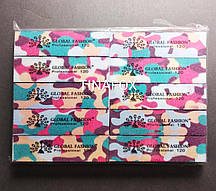 Бафы для ногтей 120 грит Global Fashion, упаковка 10шт
