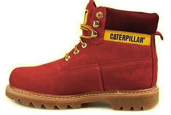 """Женские зимние ботинки Caterpillar """"Burgundy"""" Fur с мехом"""