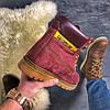 """Женские зимние ботинки Caterpillar """"Burgundy"""" Fur с мехом, фото 6"""