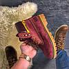 """Женские зимние ботинки Caterpillar """"Burgundy"""" Fur с мехом, фото 4"""