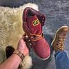 """Женские зимние ботинки Caterpillar """"Burgundy"""" Fur с мехом, фото 7"""