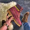 """Женские зимние ботинки Caterpillar """"Burgundy"""" Fur с мехом, фото 2"""