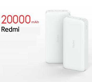 Xiaomi Redmi Power Bank 20000 mAh / Dual USB / Micro-USB / Type-C VXN4265CN PB200LZM Внешний аккумулятор