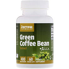 """Экстракт зелёных кофейных зёрен Jarrow Formulas """"Green Coffee Bean Extract"""" (60 капсул)"""