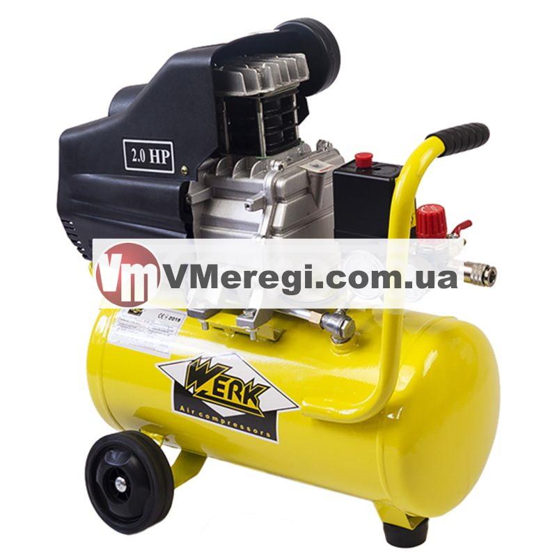 Воздушный поршневой компрессор 24 л. Werk BM-2T24N для дома одноцилиндровый 1.5 кВт