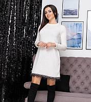 Платье с кружевом из ангоры до 52 размера