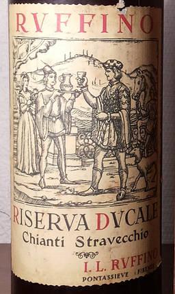Вино 1951 года Rvffino Chianti Италия, фото 2