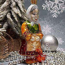 Стеклянная елочная игрушка Старик и старуха Irena, фото 2