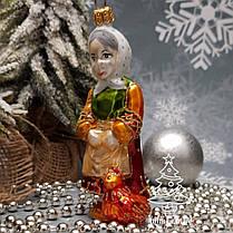 Стеклянная елочная игрушка Старик и старуха Irena, фото 3