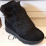 Ботинки молодежные зима из натуральной замши с ушками от производителя ЛУ418-2, фото 2