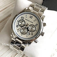 Женские часы Michael Kors (Майкл Корс)  серебро без камней дата (календарь)