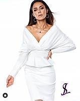 Жіночий стильний костюм з спідницею, красивий костюм, фото 1