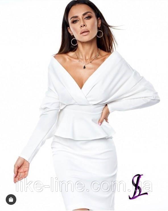Жіночий стильний костюм з спідницею, красивий костюм