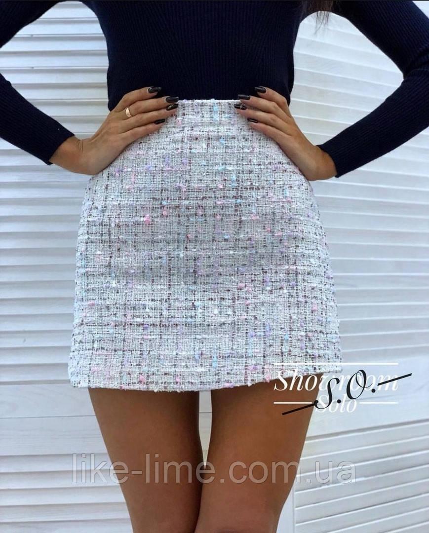 Женская юбка-букле