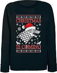Женский свитшот Game Of Thrones - Christmas Is Coming (чёрный)