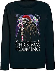Женский свитшот Game Of Thrones - Brace Yourselves Christmas Is Coming (чёрный)