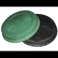 Люк пластмассовый  черный  с замком(2тонны)
