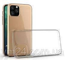 Ультратонкий силиконовый чехол 0.75mm на iPhone 11 Pro- прозрачный
