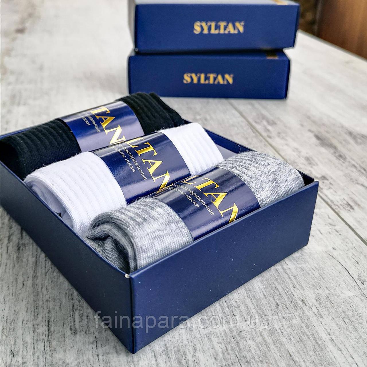 Короткие мужские носки в подарочной упаковке