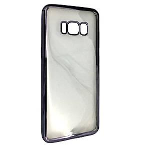 Чехол с хром бортом Samsung S8 Plus (grey)