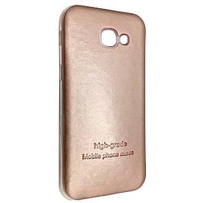 Чехол-накладка DK-Case силикон кожаная наклейка для Samsung A520 (2017) (rose gold)