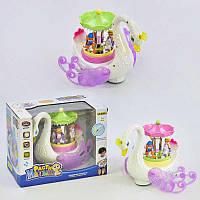Музыкальная игрушка Лебединная карусель 9474 песня на английском языке, подсветка, движение, на