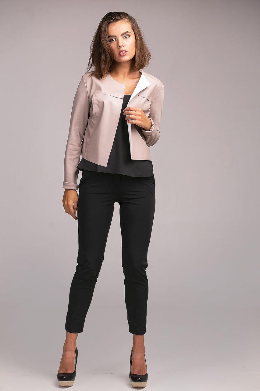 Стильный укороченный женский жакет без застежки - Оптово - розничный магазин  одежды