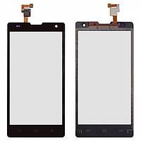 Сенсорный экран (touchscreen) для Huawei Honor 3C H30-U10, черный, оригинал