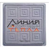 Пластиковый Люк-мини квадратный 300х300 (черный)