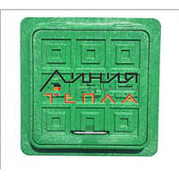 Пластиковый Люк-мини квадратный 300х300 (зеленый)
