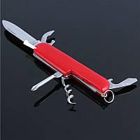 Красный раскладной нож 5 в 1