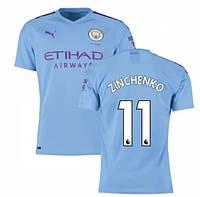 Футбольная форма Манчестер Сити ZINCHENKO 11 ( Англия, Премьер Лига ) 2019-2020 основная голубая, фото 1