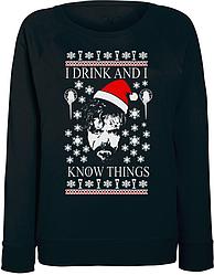 Женский свитшот Game Of Thrones - I Drink And I Know Things (чёрный)