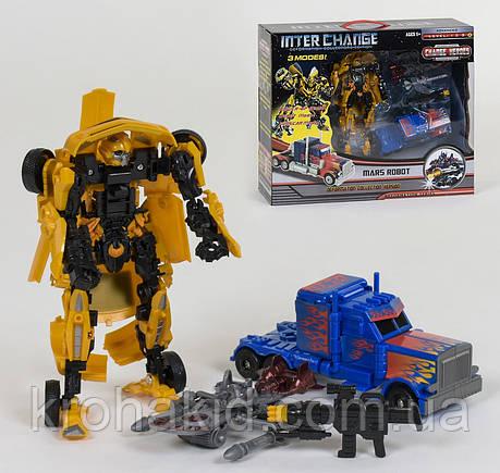 Игровой набор 2 в 1 Трансформеры Бамблби и Оптимус Прайм с аксессуарами / Bumblebee, Optimus Prime 4096, фото 2