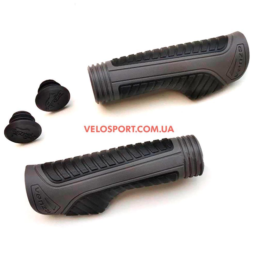 Грипсы анатомические VENZO VZ-E05-014 130 мм серые