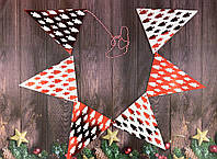 Праздничная гирлянда Красная / Микс, 230 см