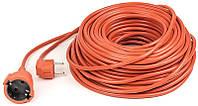Удлинитель PowerPlant (PPCA16M40S1L) 1 розетка, 40 м, морозостойкий, оранжевый